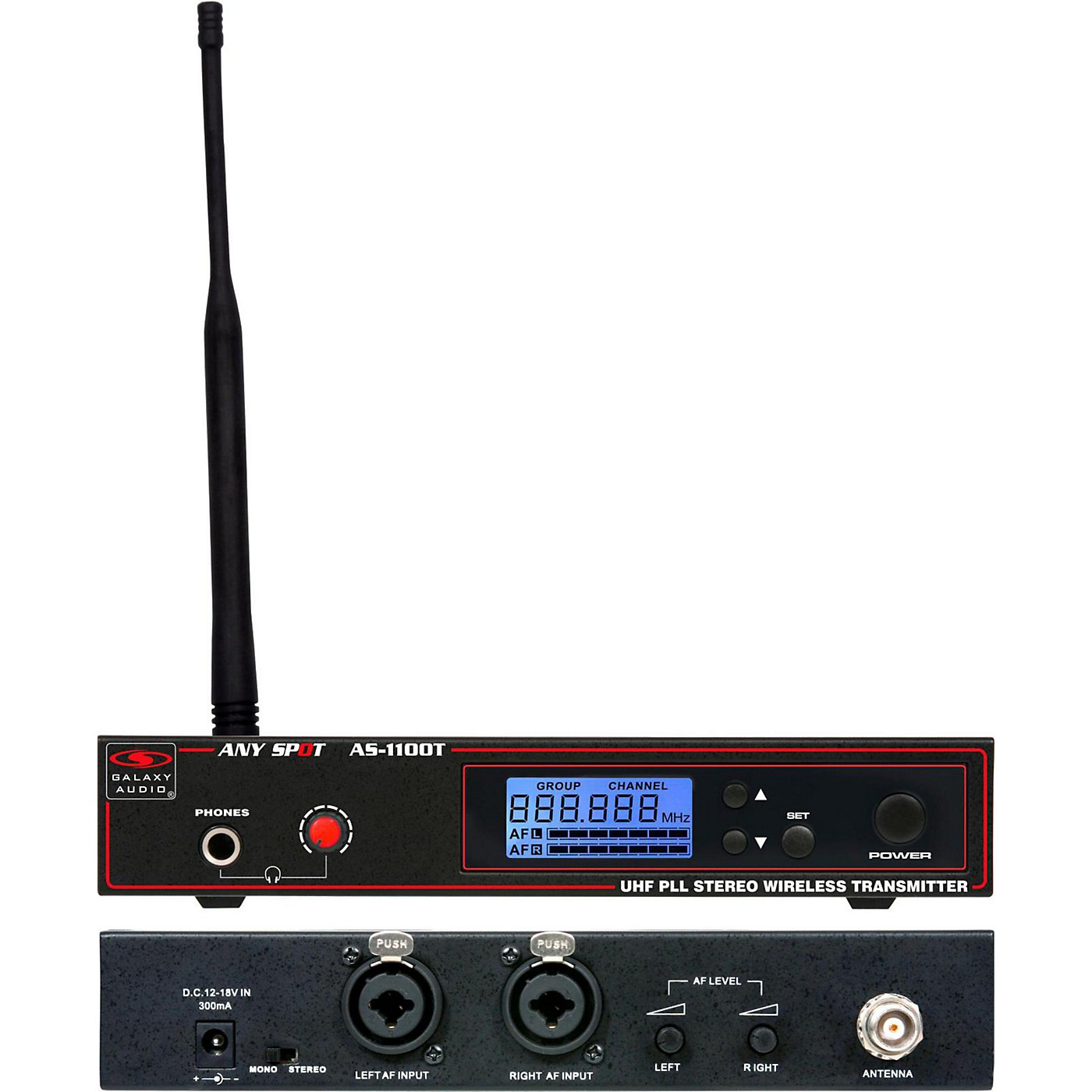 Galaxy Audio 1100 SERIES Wireless In Ear Monitor Transmitter Frequency thumbnail