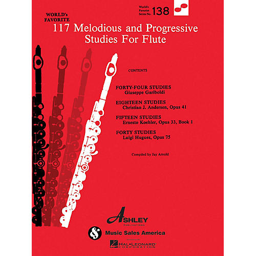 Ashley Publications Inc. 117 Melodious and Progressive Studies for Flute World's Favorite (Ashley) Series thumbnail