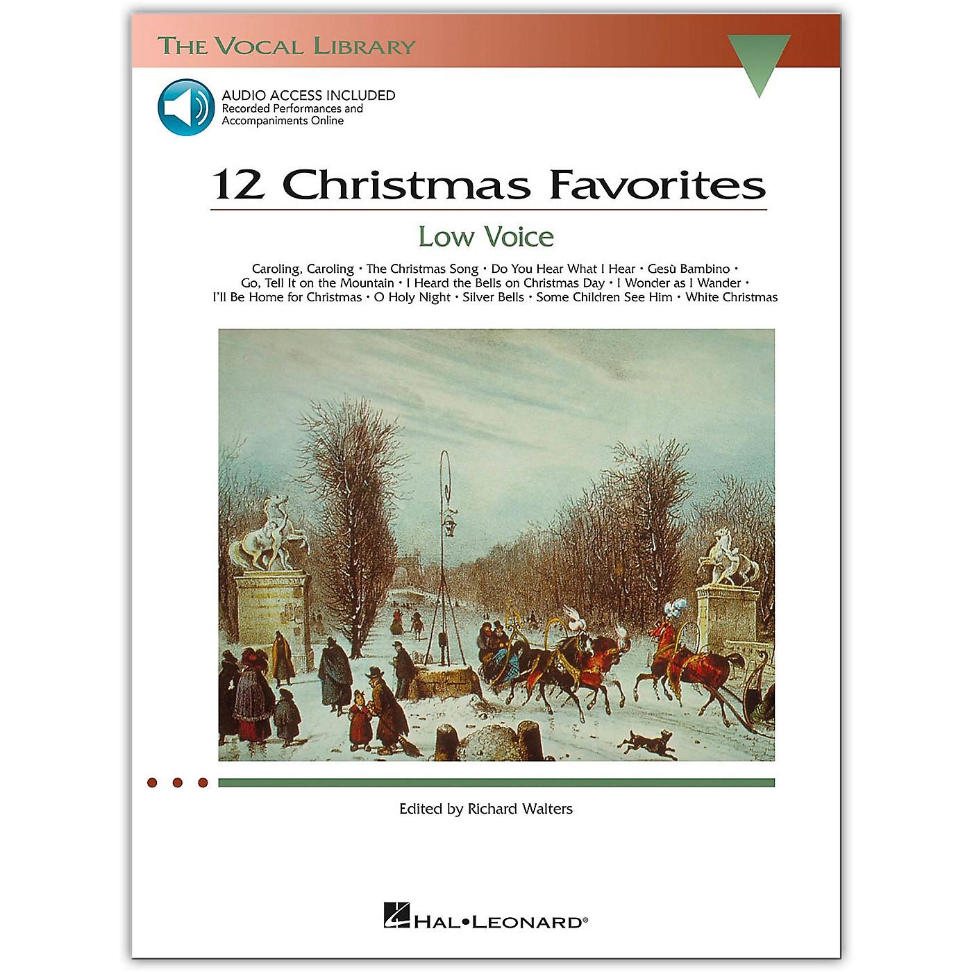 Hal Leonard 12 Christmas Favorites for Low Voice Book/Online Audio thumbnail