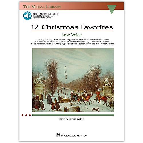 Hal Leonard 12 Christmas Favorites for Low Voice Book/Online Audio-thumbnail