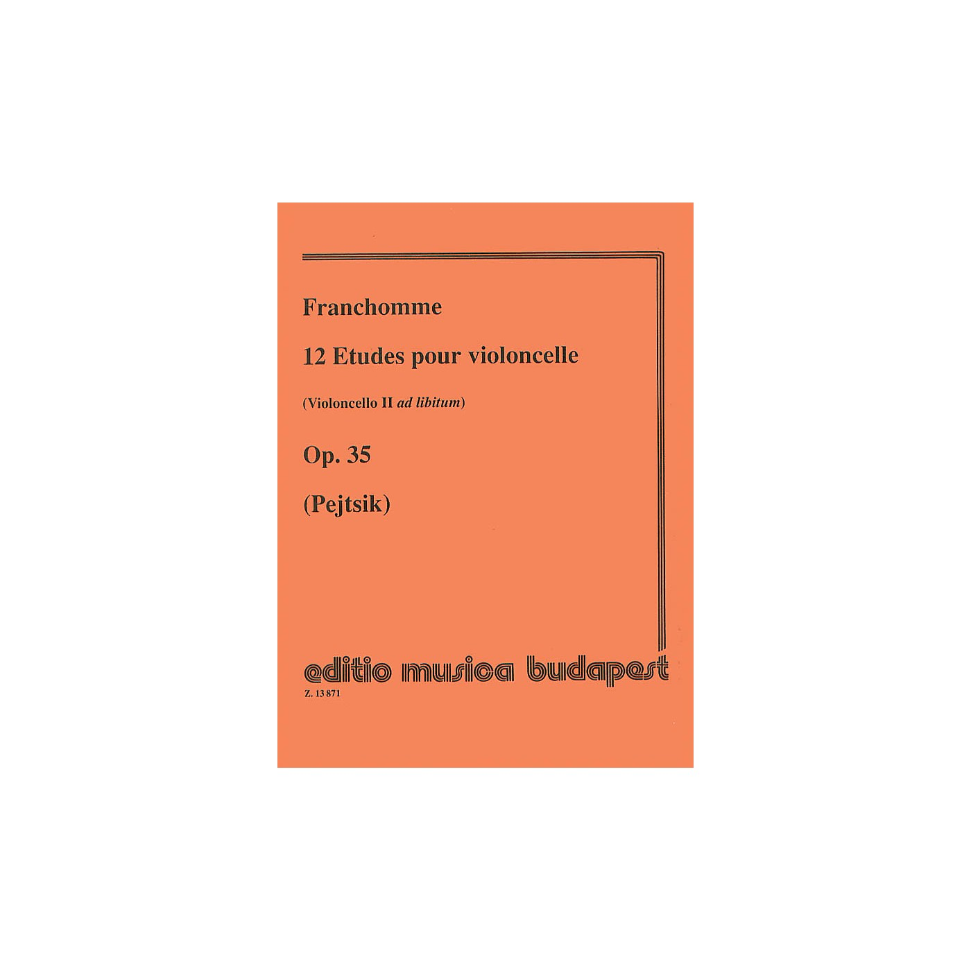 Editio Musica Budapest 12 Etudes, Op. 35 (Violoncello II ad lib.) (Violoncello Solo) EMB Series Composed by Auguste Franchomme thumbnail