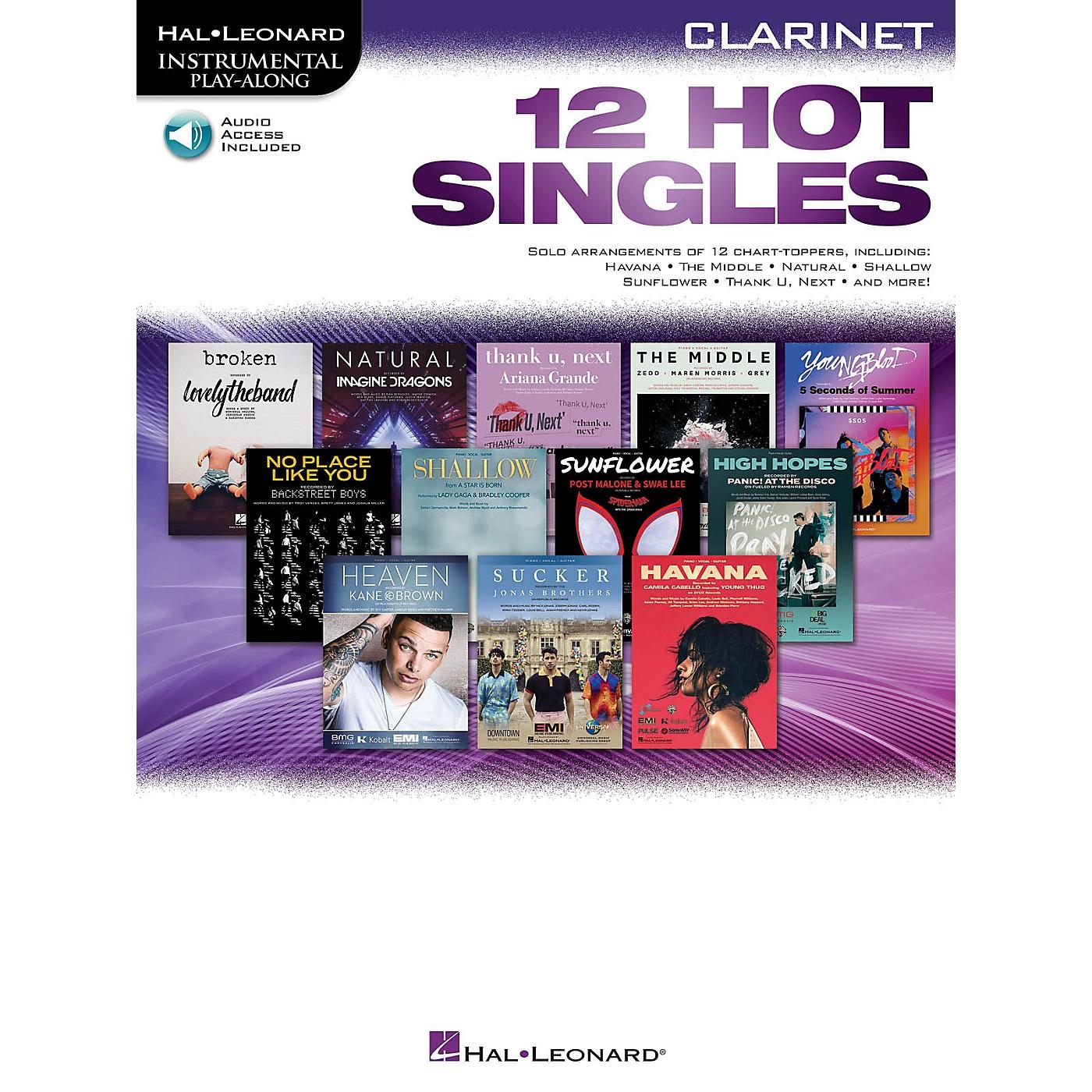 Hal Leonard 12 Hot Singles for Clarinet Instrumental Play-Along Book/Audio Online thumbnail