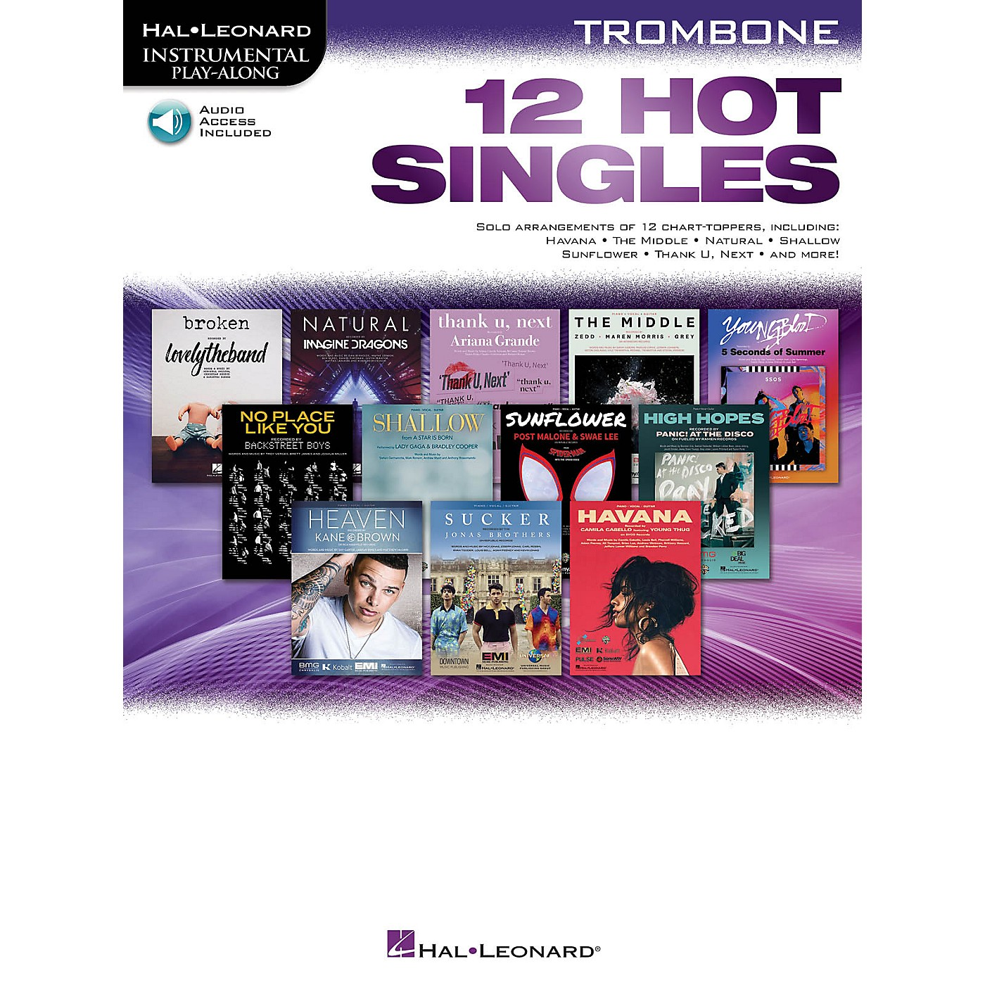 Hal Leonard 12 Hot Singles for Trombone Instrumental Play-Along Book/Audio Online thumbnail