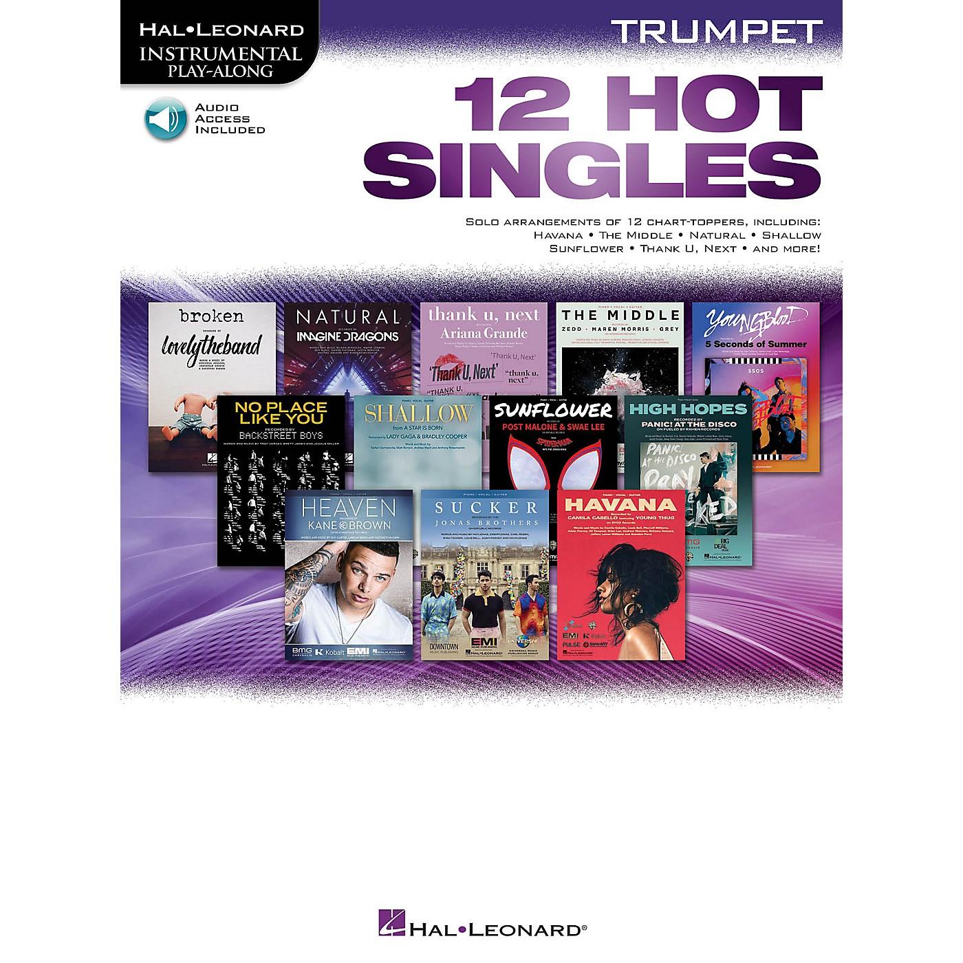 Hal Leonard 12 Hot Singles for Trumpet Instrumental Play-Along Book/Audio Online thumbnail