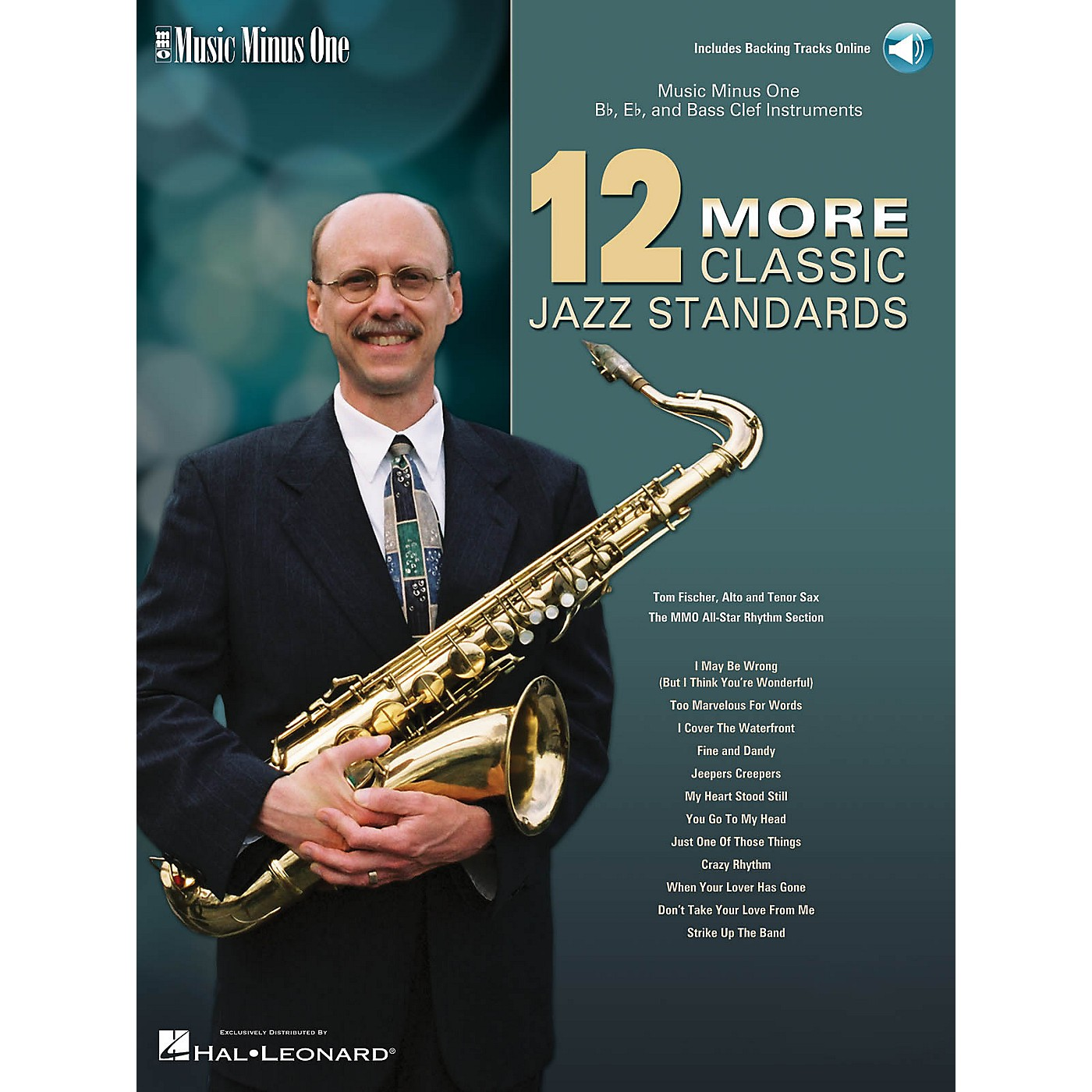 Music Minus One 12 More Classic Jazz Standards Music Minus One Series Softcover with CD Performed by Tom Fischer thumbnail