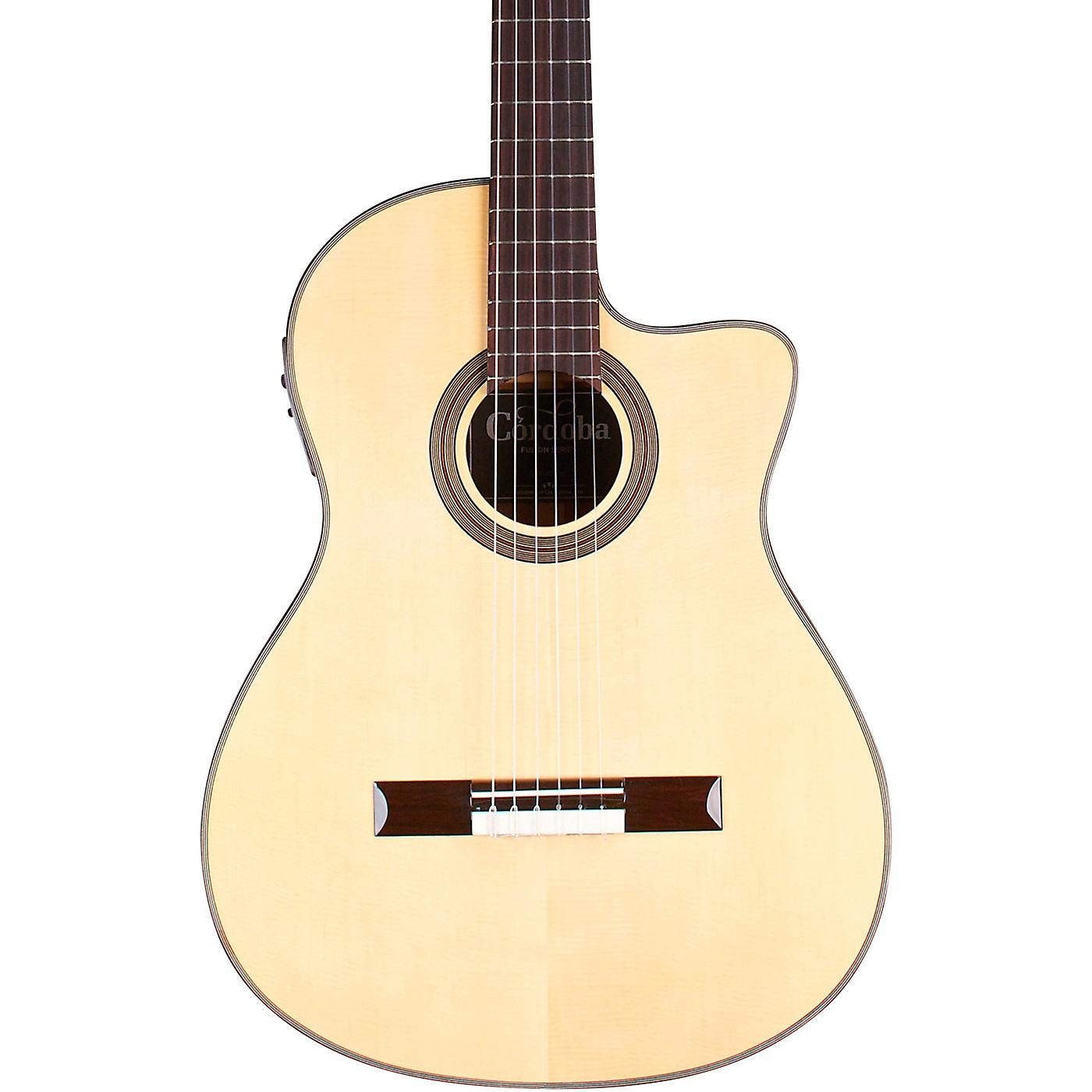 Cordoba 12 Natural Spruce Top Classical Acoustic-Electric Guitar thumbnail