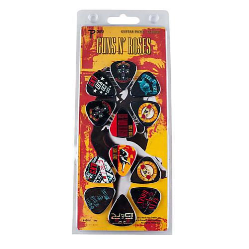Perri's 12 Pack Of Guns N Roses Guitar Picks - Med Gauge - Celluloid Plastic thumbnail