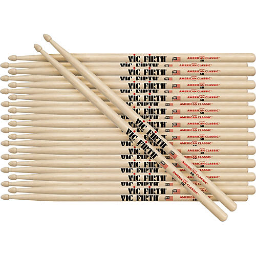 Vic Firth 12-Pair American Classic Hickory Drumsticks thumbnail