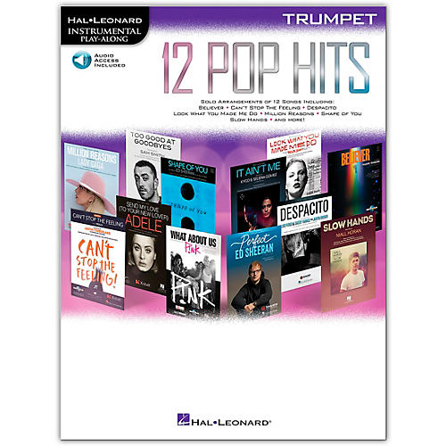 Hal Leonard 12 Pop Hits for Trumpet Book/Audio Online thumbnail