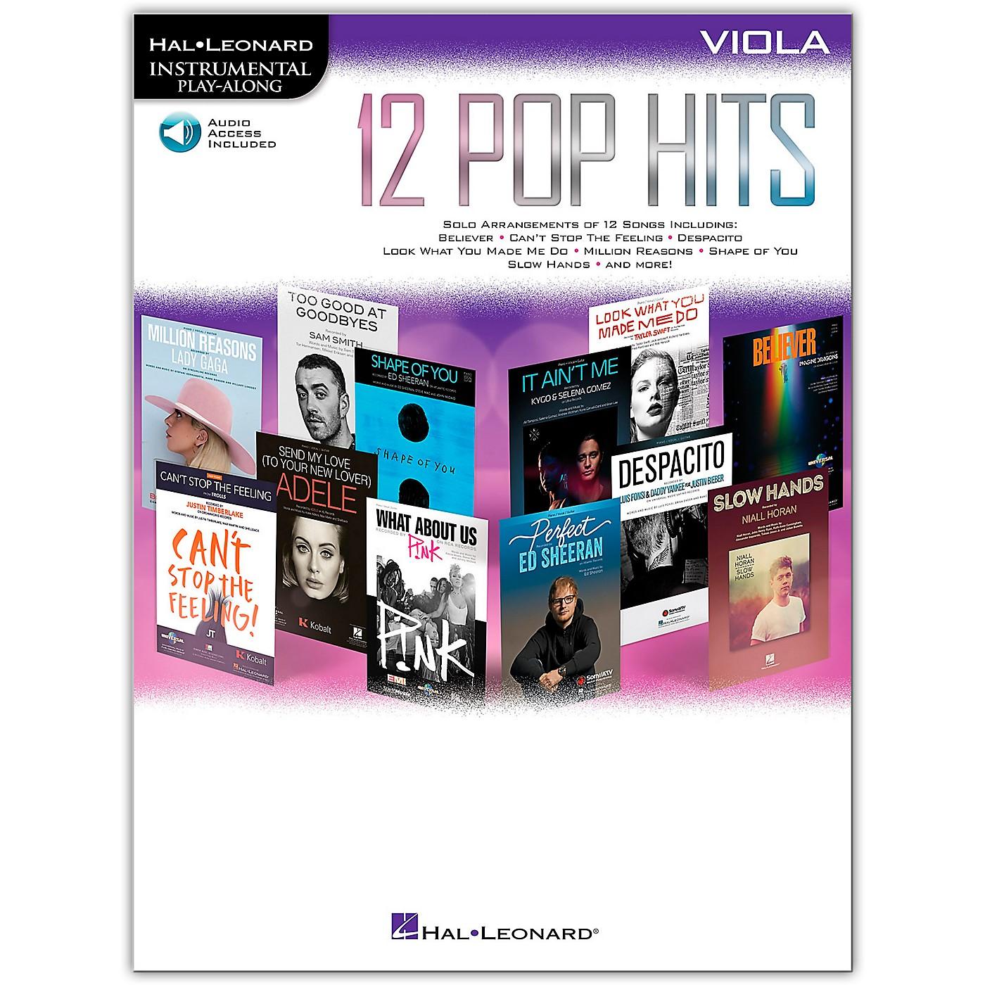 Hal Leonard 12 Pop Hits for Viola Book/Audio Online thumbnail