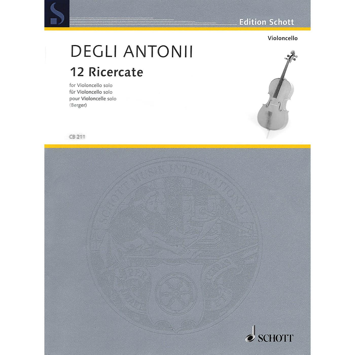 Schott 12 Ricercate (Solo Cello) String Series thumbnail