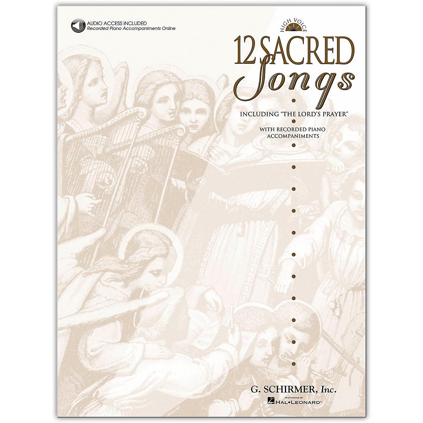 G. Schirmer 12 Sacred Songs High Voice Book/Online Audio thumbnail
