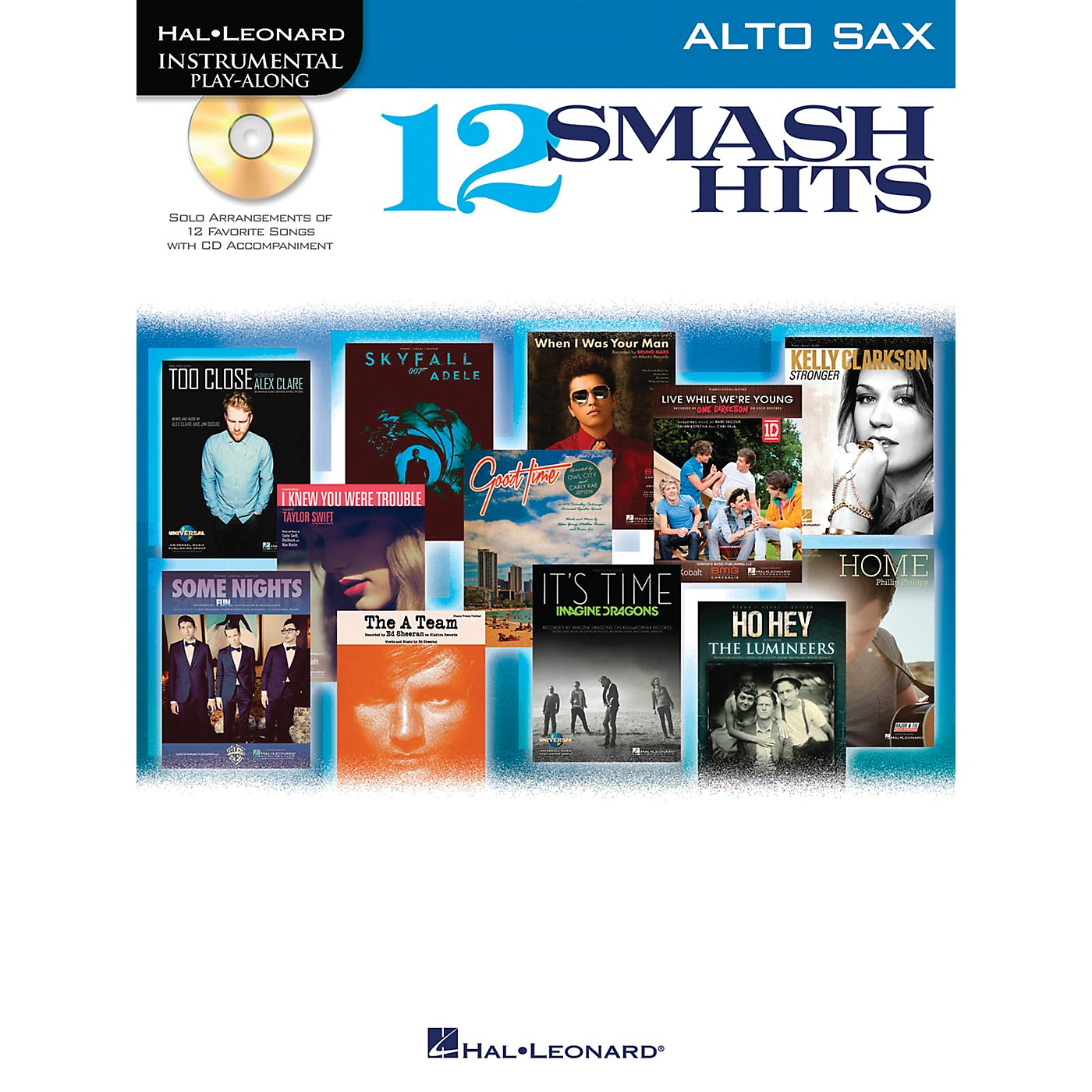 Hal Leonard 12 Smash Hits for Alto Sax - Instrumental Play-Along Book/CD thumbnail