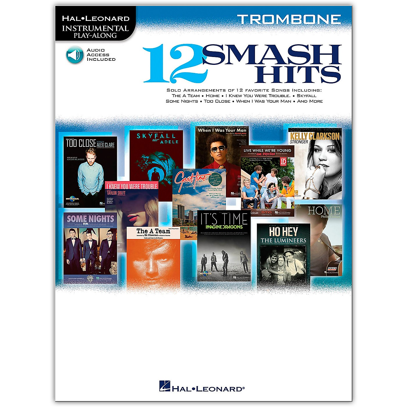 Hal Leonard 12 Smash Hits for Trombone - Instrumental Play-Along Book/Online Audio thumbnail