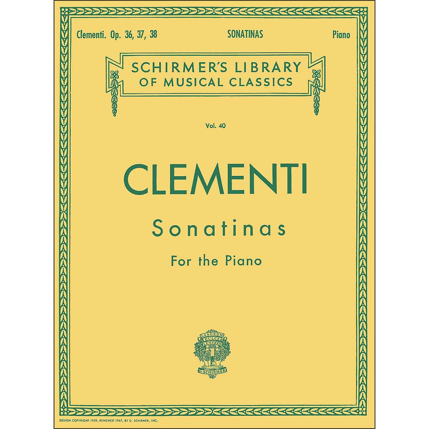 G. Schirmer 12 Sonatinas Op 36 37 38 Piano By Clementi thumbnail