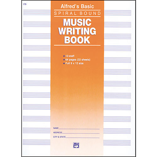 Alfred 12 Stave Music Writing Book (9 x 12)-thumbnail