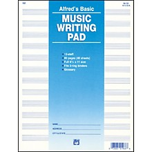 "Alfred 12 Stave Music Writing Pad (8 1/2"" x 11"")"