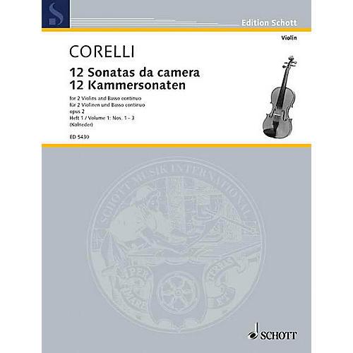 Schott Music 12 Trio Sonatas Op. 2, Nos. 1-3 (Score and Parts) Schott Series Composed by Arcangelo Corelli thumbnail