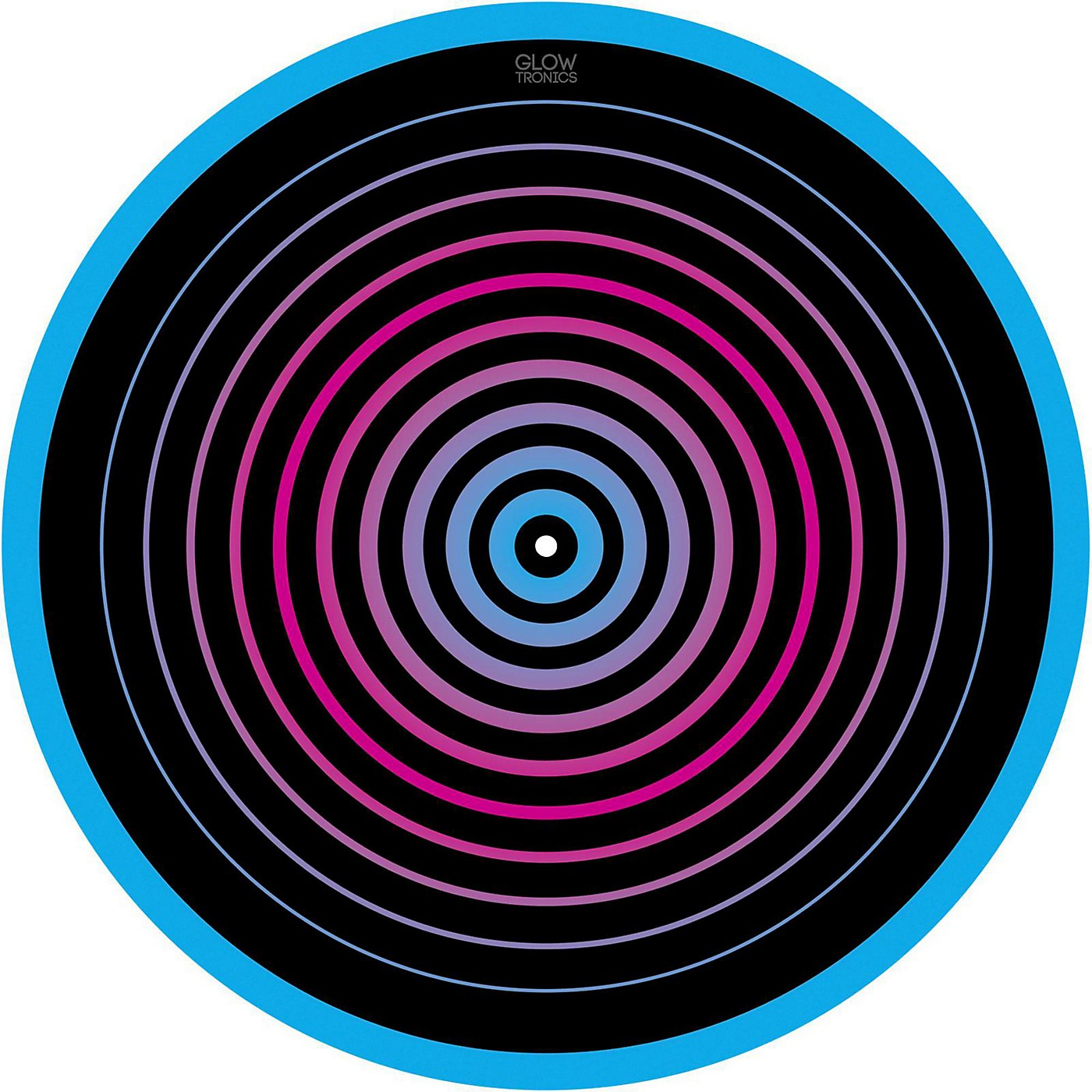 Glowtronics 12 in. UV-activated Circles Glow DJ Slipmat thumbnail