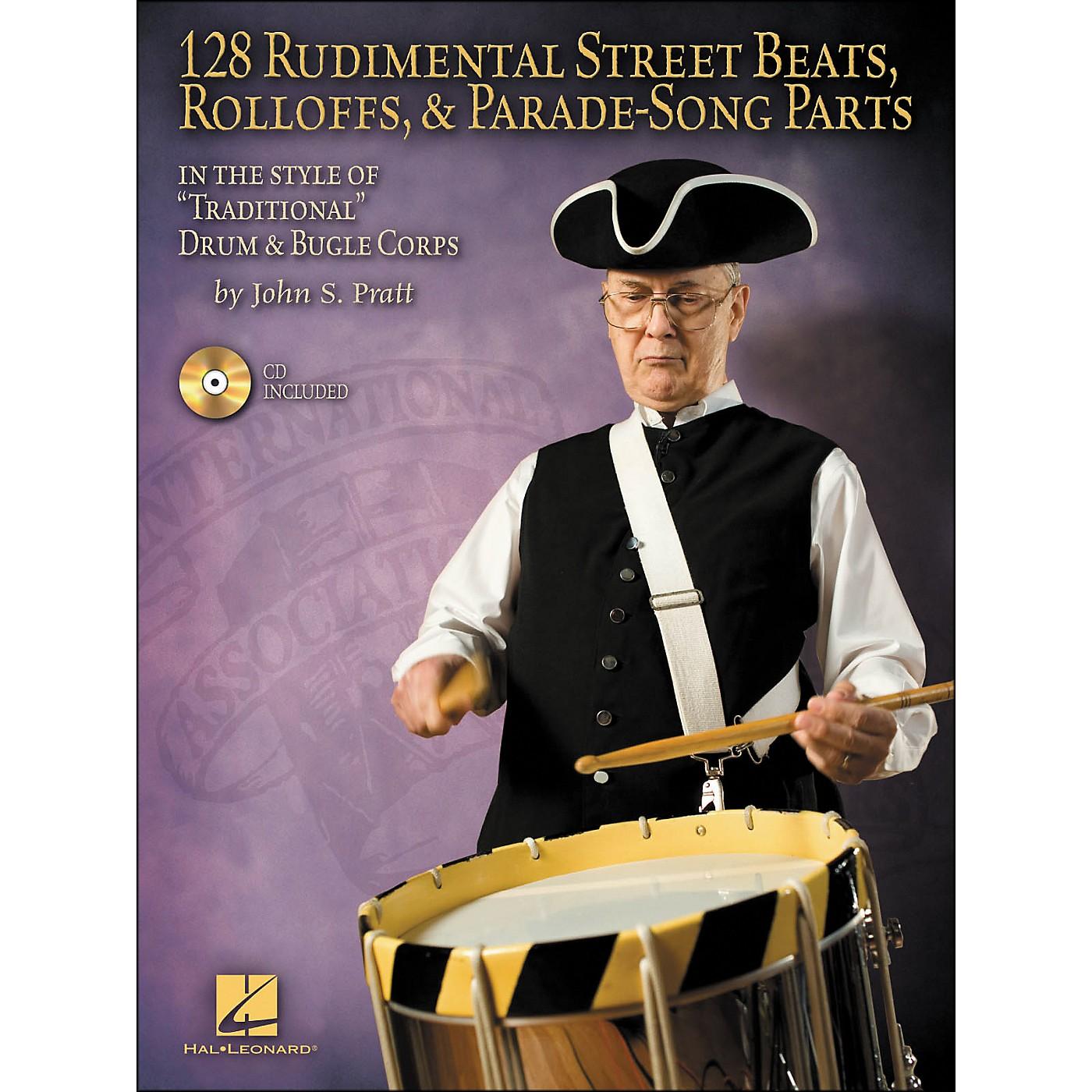 Hal Leonard 128 Rudimental Street Beats, Rolloffs, & Parade-Song Parts Book/CD thumbnail