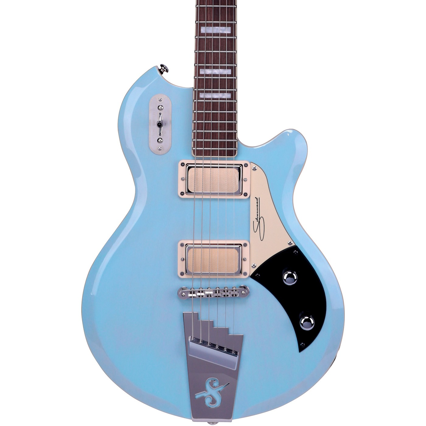 Supro 1296 Supro Silverwood Solid Body Electric Guitar thumbnail