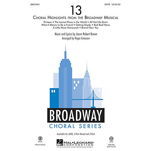 Hal Leonard 13 (Choral Highlights from the Broadway Musical) 2-Part Arranged by Roger Emerson thumbnail