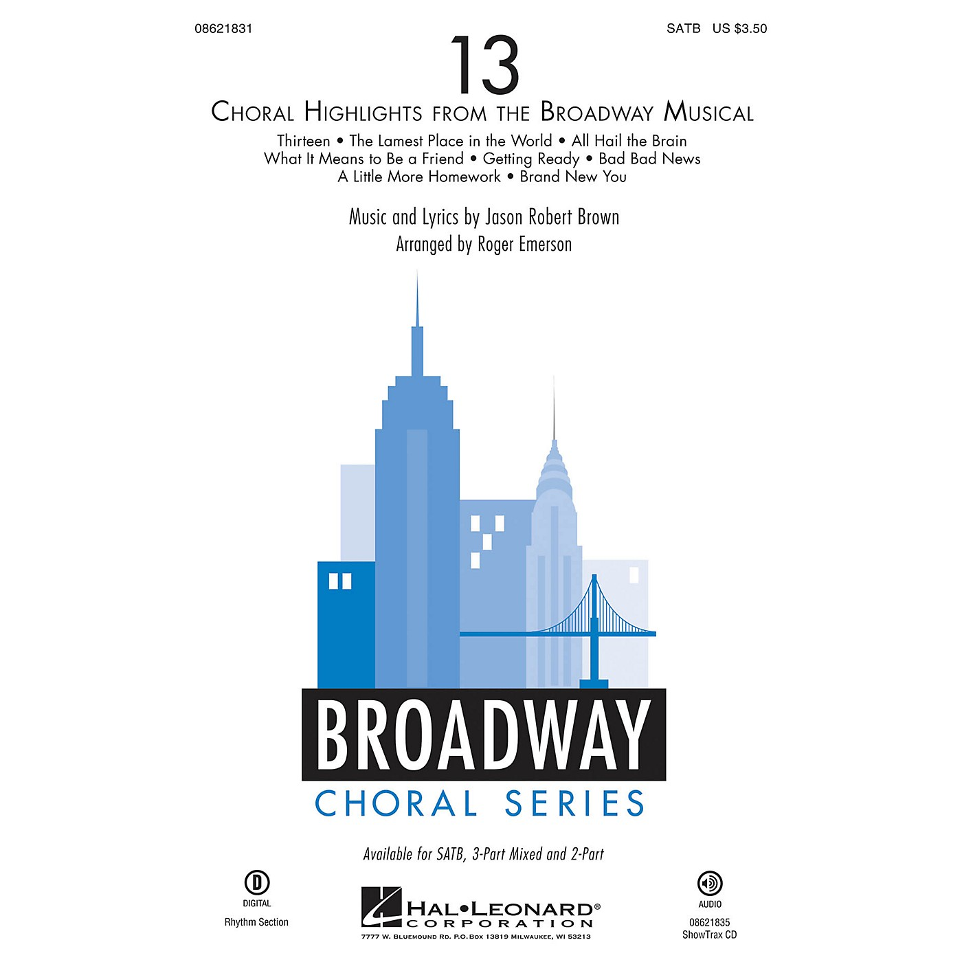 Hal Leonard 13 (Choral Highlights from the Broadway Musical) ShowTrax CD Arranged by Roger Emerson thumbnail