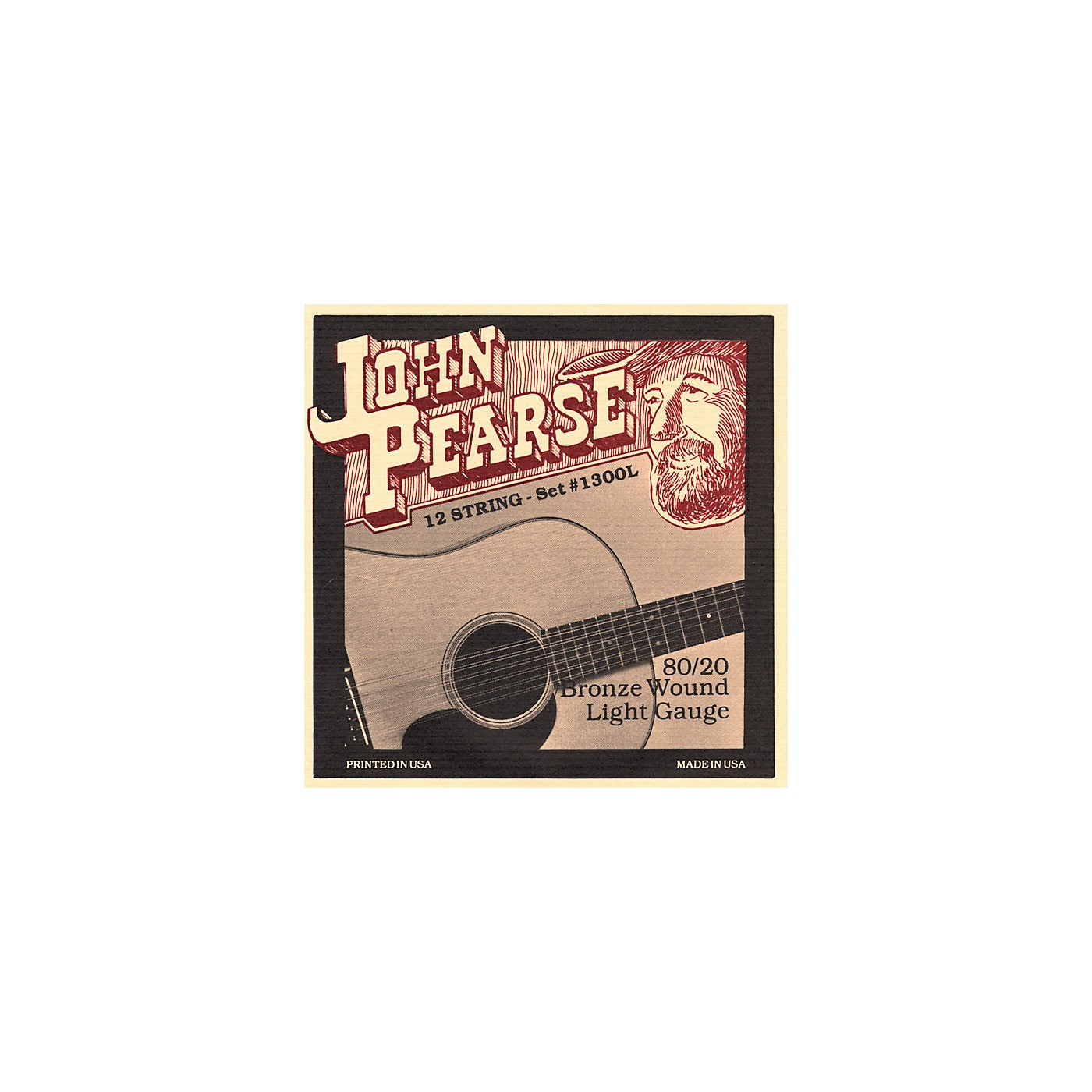 John Pearse 1300L 12-String 80/20 Bronze Acoustic Guitar Strings thumbnail