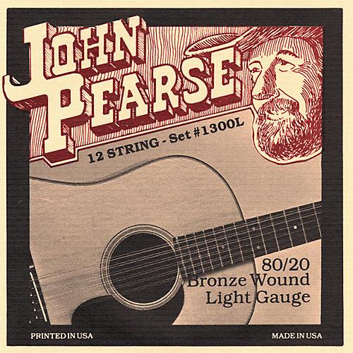 John Pearse 1300L 12-String 80/20 Bronze Acoustic Guitar Strings thumbnail