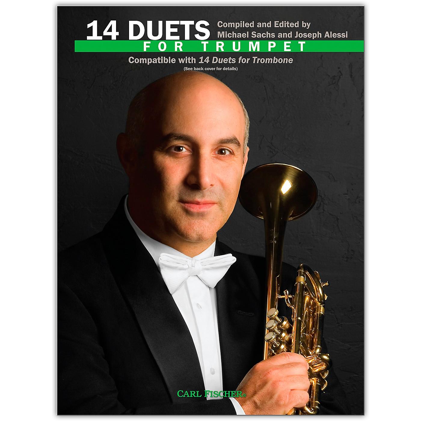 Carl Fischer 14 Duets for Trumpet Book thumbnail