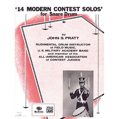 Alfred 14 Modern Contest Solos for Snare Drum Book thumbnail
