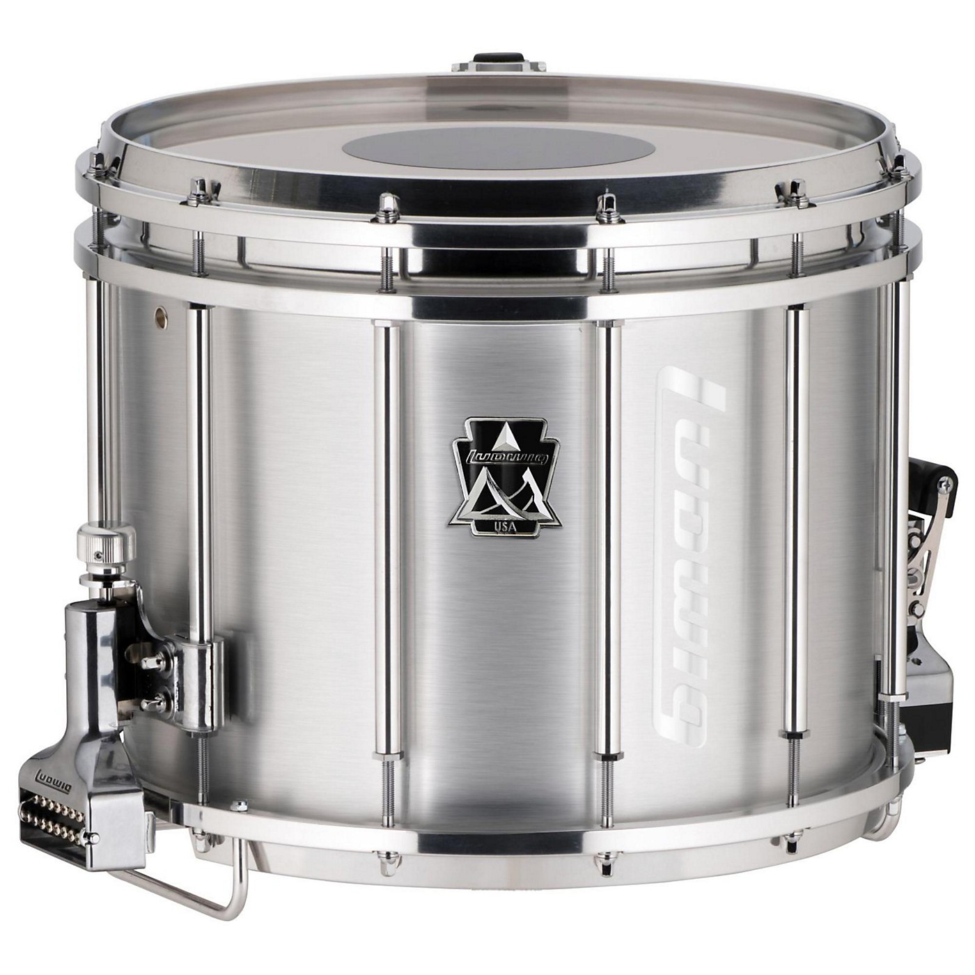 Ludwig 14 x 12 in. Ultimate Marching Snare Drum, 14 x 12 in., Silver thumbnail