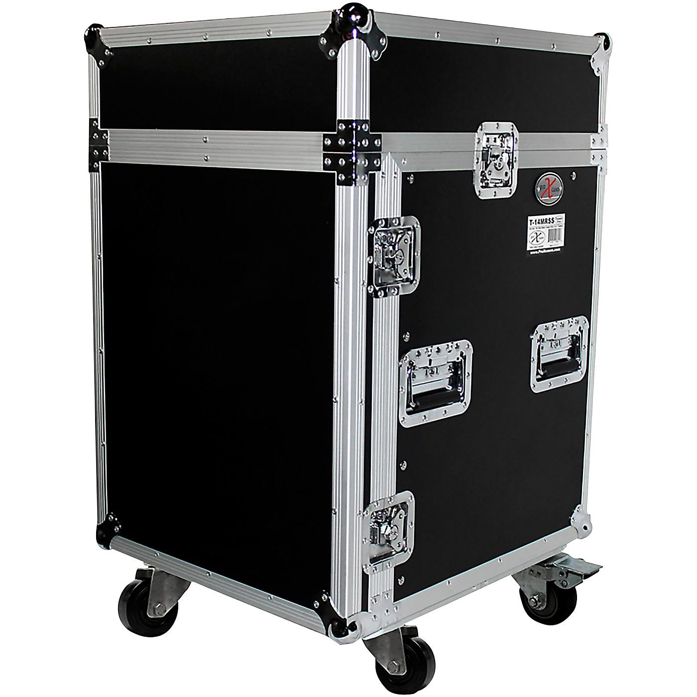 ProX 14U Rack x 10U Top Mixer DJ Combo Flight Case thumbnail