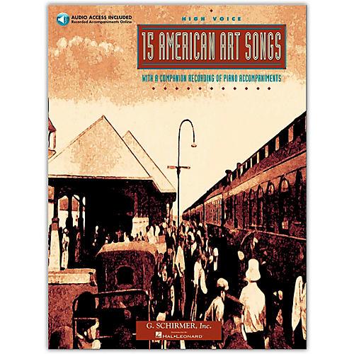 G. Schirmer 15 American Art Songs High Voice Book/Online Audio thumbnail