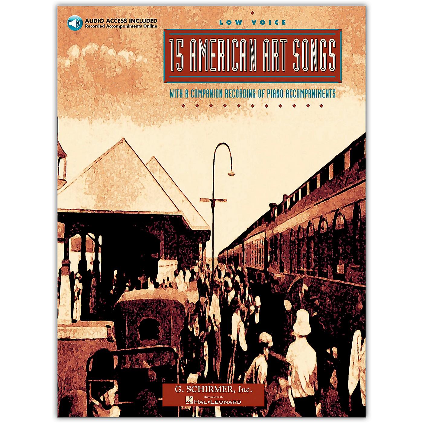G. Schirmer 15 American Art Songs for Low Voice Book/Online Audio thumbnail
