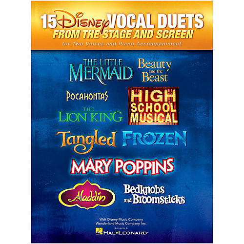 Hal Leonard 15 Disney Vocal Duets from Stage and Screen for 2 Voices And Piano Accompaniment thumbnail