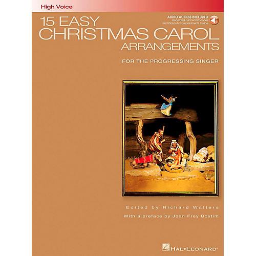 Hal Leonard 15 Easy Christmas Carol Arrangements for High Voice Book/CD thumbnail
