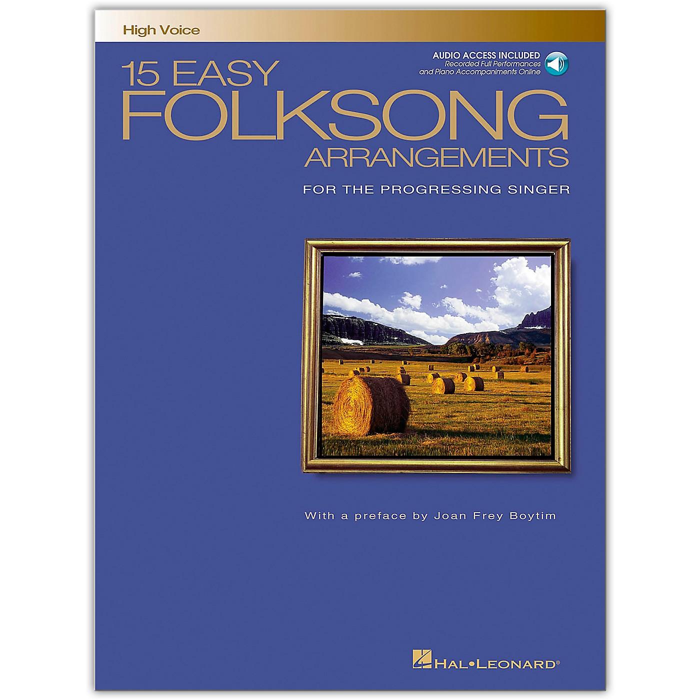 Hal Leonard 15 Easy Folksong Arrangements for High Voice (Book/Online Audio) thumbnail