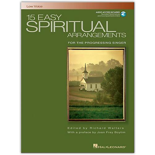 Hal Leonard 15 Easy Spiritual Arrangements for Low Voice Book/Online Audio thumbnail