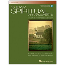 Hal Leonard 15 Easy Spiritual Arrangements for Low Voice Book/Online Media