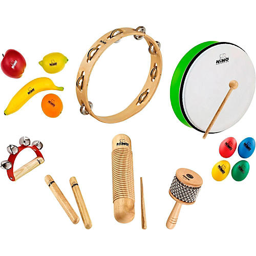 Nino 15-Piece Mixed Small Percussion Set with Tambourine thumbnail