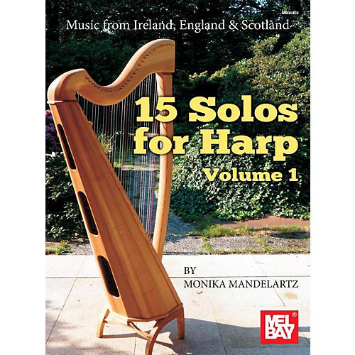 Mel Bay 15 Solos for Harp Volume 1 thumbnail