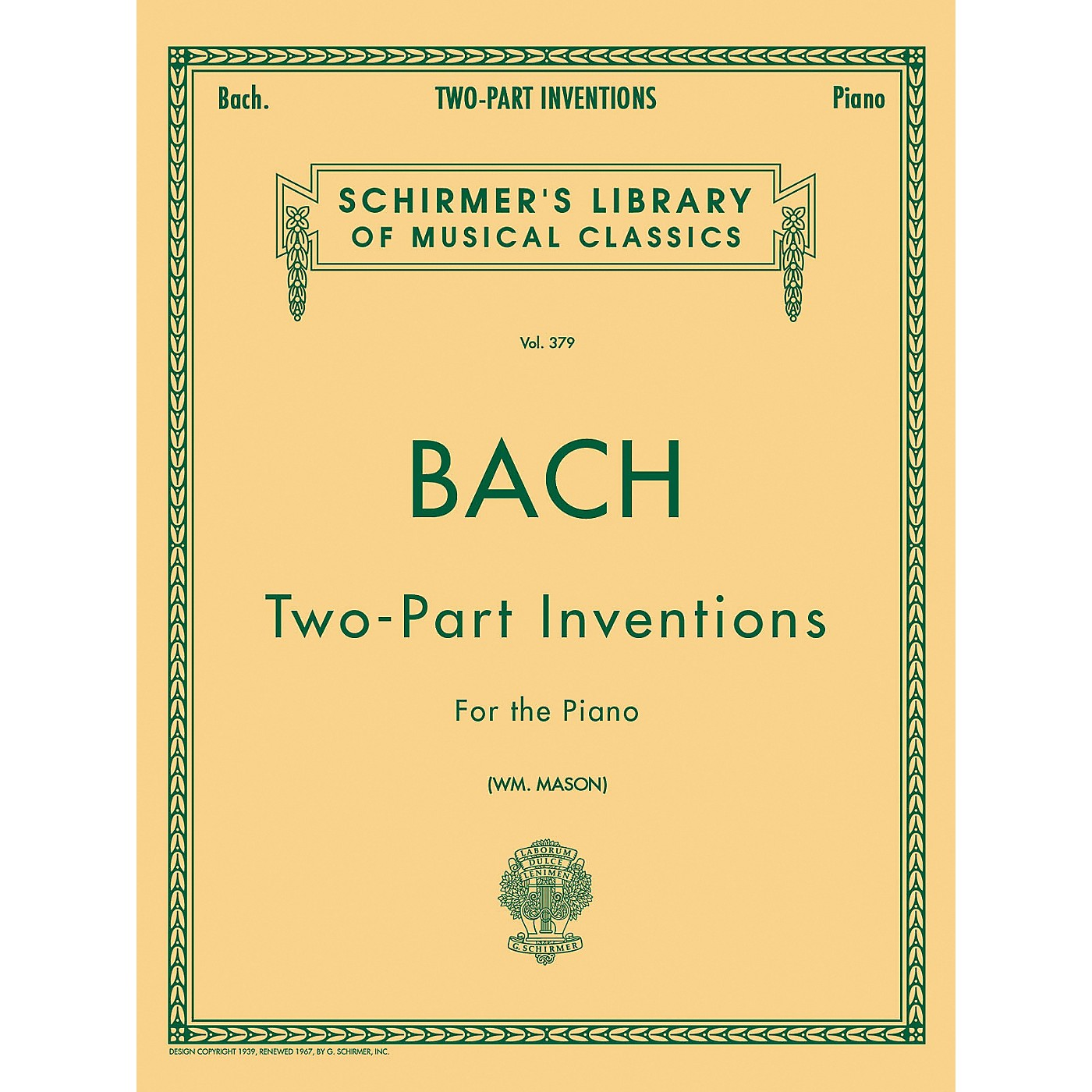 G. Schirmer 15 Two Part Inventions for The Piano By Bach thumbnail