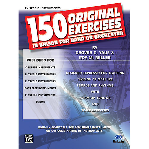 Alfred 150 Original Exercises in Unison for Band or Orchestra E-Flat Treble Instruments thumbnail