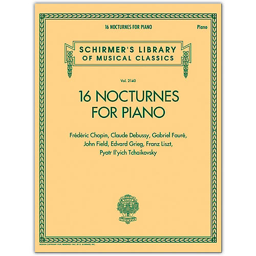 G. Schirmer 16 Nocturnes for Piano - Schirmer Library of Classics Volume 2140 for Piano Solo thumbnail