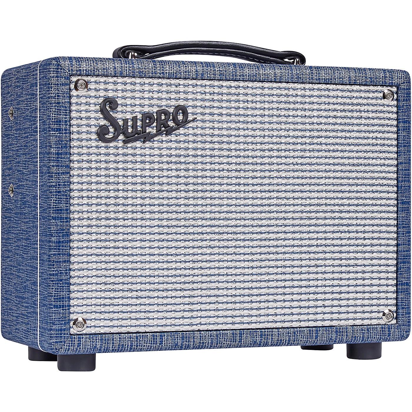 Supro 1605RJ 64 Reverb 5W 1x8 Tube Guitar Combo Amp thumbnail