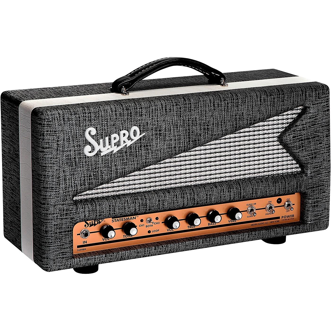 Supro 1699R Statesman 50W Tube Guitar Amp Head thumbnail