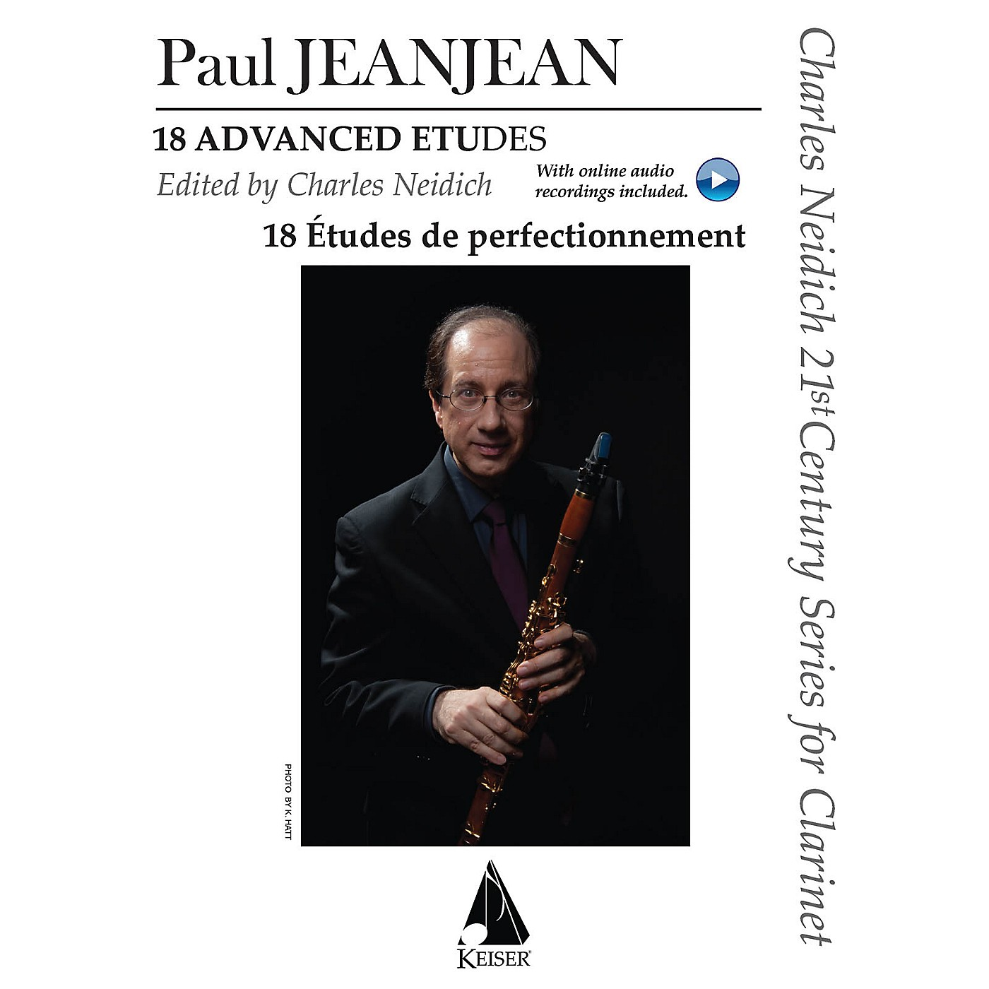 Lauren Keiser Music Publishing 18 Advanced Etudes LKM Music Series BK/2 CDs Composed by Paul Jeanjean Edited by Charles Neidich thumbnail