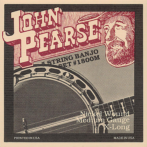 John Pearse 1800M Medium Banjo Strings thumbnail