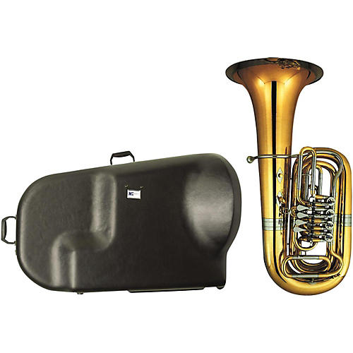 Miraphone 186-4U Series 4-Valve Yellow Brass BBb Tuba with Hard Case thumbnail